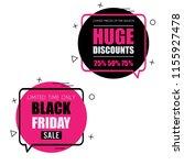 black friday set of trendy flat ... | Shutterstock .eps vector #1155927478