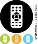 remote control   vector icon... | Shutterstock .eps vector #115594018