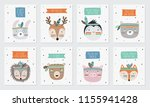 vector collection of postcards...   Shutterstock .eps vector #1155941428