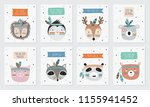 vector collection of postcards...   Shutterstock .eps vector #1155941452