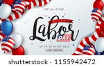 labor day sale promotion... | Shutterstock .eps vector #1155942472
