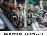 car timing chain in cutaway... | Shutterstock . vector #1155952075
