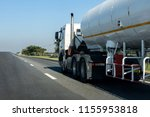 gas truck on highway road with... | Shutterstock . vector #1155953818