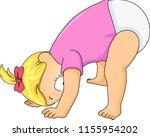 illustration of a kid boy... | Shutterstock .eps vector #1155954202