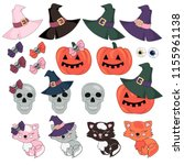 halloween vector illustration... | Shutterstock .eps vector #1155961138