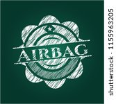 airbag written with chalkboard... | Shutterstock .eps vector #1155963205