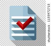 document and check mark icon in ... | Shutterstock .eps vector #1155972715