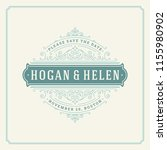 wedding invitation card design... | Shutterstock .eps vector #1155980902