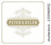 wedding invitation card design... | Shutterstock .eps vector #1155980932