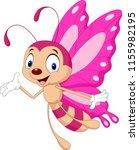 cartoon funny butterfly | Shutterstock .eps vector #1155982195