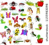 cartoon insect collection set | Shutterstock .eps vector #1155983098