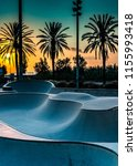barcelona  spain  concrete... | Shutterstock . vector #1155993418