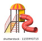 childrens slide with ladder and ... | Shutterstock .eps vector #1155993715
