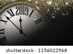 black and gold shiny 2019 new... | Shutterstock .eps vector #1156022968