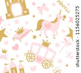 cute girlish seamless pattern... | Shutterstock .eps vector #1156025275