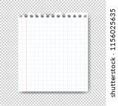 sheet of paper on transparent... | Shutterstock .eps vector #1156025635