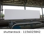 blank billboard in train... | Shutterstock . vector #1156025842