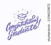 congratulations graduate banner. | Shutterstock .eps vector #1156025872