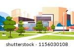 urban city park skyscraper... | Shutterstock .eps vector #1156030108