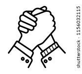 handshake friendship... | Shutterstock .eps vector #1156032115