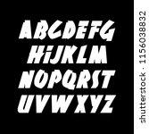 hand drawn dynamic font.... | Shutterstock .eps vector #1156038832