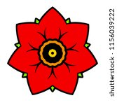 vector abstract red flower icon | Shutterstock .eps vector #1156039222