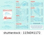 seafood menu and a banner for... | Shutterstock .eps vector #1156041172