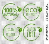 eco logo symbol transparent... | Shutterstock . vector #1156041652