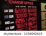 people exchange their money at... | Shutterstock . vector #1156042615