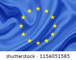 european union fabric flag... | Shutterstock . vector #1156051585