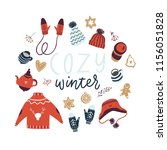 christmas greeting card or...   Shutterstock .eps vector #1156051828
