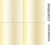 4 gradient metallic gold and... | Shutterstock .eps vector #1156058968