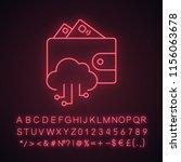 e wallet neon light icon....   Shutterstock .eps vector #1156063678
