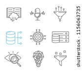 machine learning linear icons... | Shutterstock .eps vector #1156063735