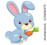 illustration of cartoon rabbit... | Shutterstock .eps vector #115606375