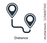 distance icon vector isolated...   Shutterstock .eps vector #1156067242