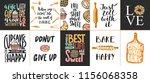 set of vector bakery lettering... | Shutterstock .eps vector #1156068358