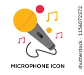 microphone icon vector isolated ... | Shutterstock .eps vector #1156072372