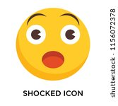 shocked icon vector isolated on ...