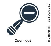 zoom out icon vector isolated...   Shutterstock .eps vector #1156073362