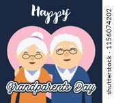 happy grand parents day for... | Shutterstock .eps vector #1156074202