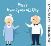 happy grand parents day for... | Shutterstock .eps vector #1156074205