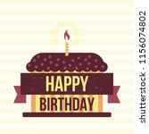 happy birthday design template. ... | Shutterstock .eps vector #1156074802