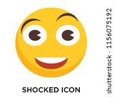 shocked icon vector isolated on ... | Shutterstock .eps vector #1156075192