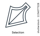 selection icon vector isolated... | Shutterstock .eps vector #1156077328