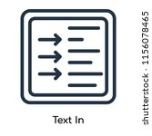 text in icon vector isolated on ...