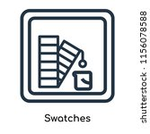 swatches icon vector isolated... | Shutterstock .eps vector #1156078588