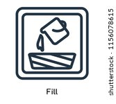 fill icon vector isolated on... | Shutterstock .eps vector #1156078615