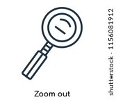 zoom out icon vector isolated...   Shutterstock .eps vector #1156081912