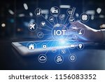 iot. internet of thing concept. ... | Shutterstock . vector #1156083352